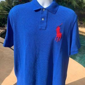 Polo by Ralph Lauren Shirts - POLO RALPH LAUREN Mesh Big Pony Polo Shirt Blue